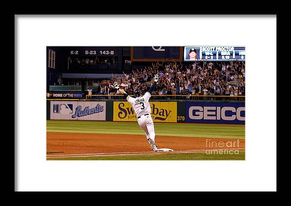 American League Baseball Framed Print featuring the photograph Evan Longoria by J. Meric
