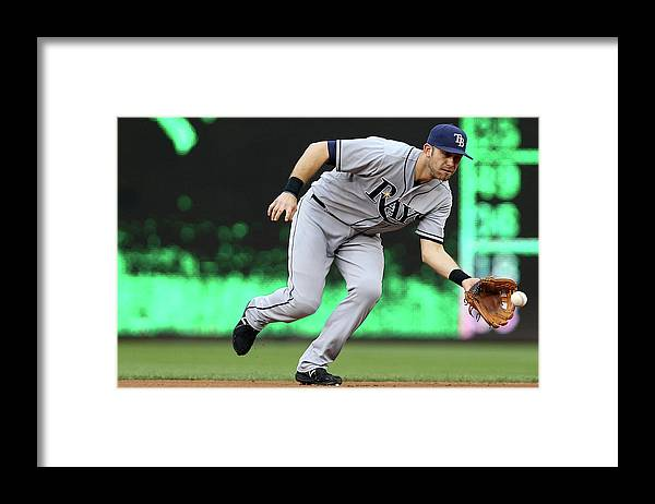 Second Inning Framed Print featuring the photograph Evan Longoria by Patrick Smith