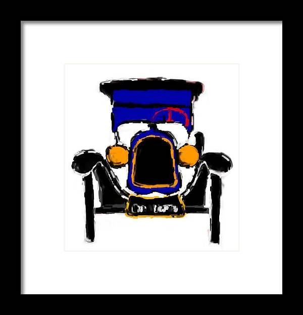 F1 Framed Print featuring the mixed media F1 by Asbjorn Lonvig
