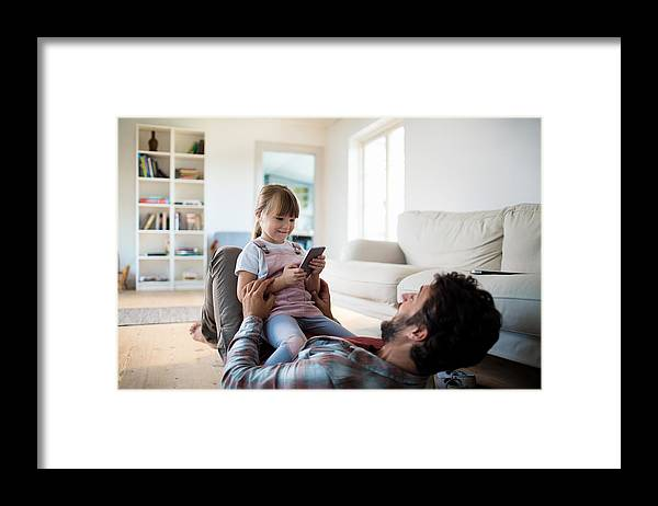 4-5 Years Framed Print featuring the photograph Father And Daughter by Geber86