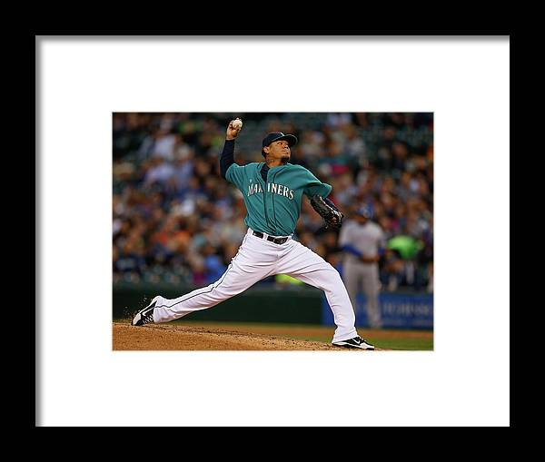 People Framed Print featuring the photograph Felix Hernandez by Otto Greule Jr