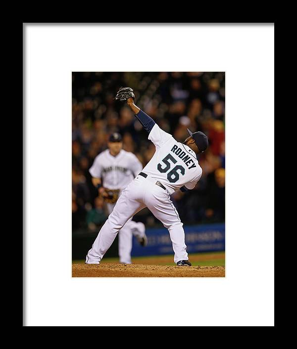 American League Baseball Framed Print featuring the photograph Fernando Rodney by Otto Greule Jr