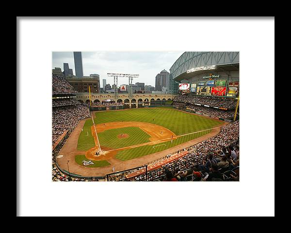 Opening Ceremony Framed Print featuring the photograph Florida Marlins v Houston Astros by Bill Baptist