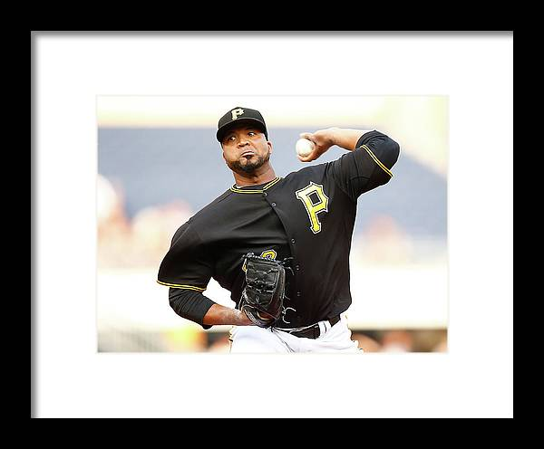 People Framed Print featuring the photograph Francisco Liriano by Jared Wickerham