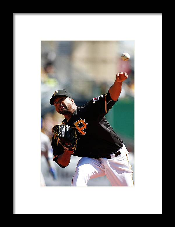 Professional Sport Framed Print featuring the photograph Francisco Liriano by Justin K. Aller