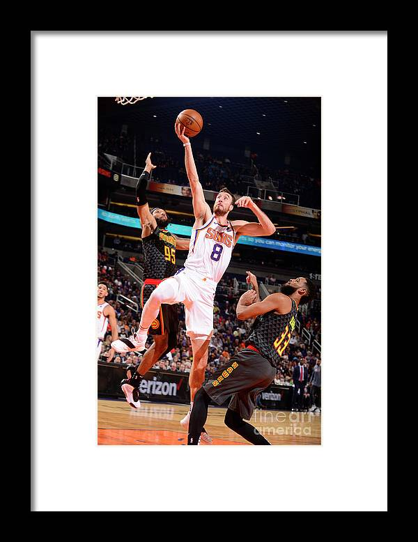 Nba Pro Basketball Framed Print featuring the photograph Frank Kaminsky by Barry Gossage