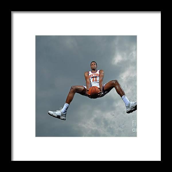 Nba Pro Basketball Framed Print featuring the photograph Frank Ntilikina by Jesse D. Garrabrant