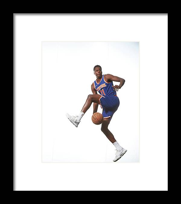 Nba Pro Basketball Framed Print featuring the photograph Frank Ntilikina by Nathaniel S. Butler