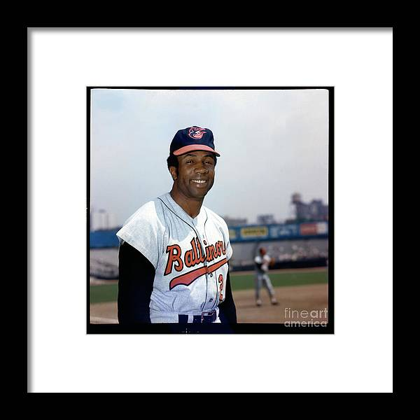 National League Baseball Framed Print featuring the photograph Frank Robinson by Louis Requena
