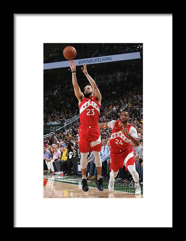 Nba Pro Basketball Framed Print featuring the photograph Fred Vanvleet by Gary Dineen