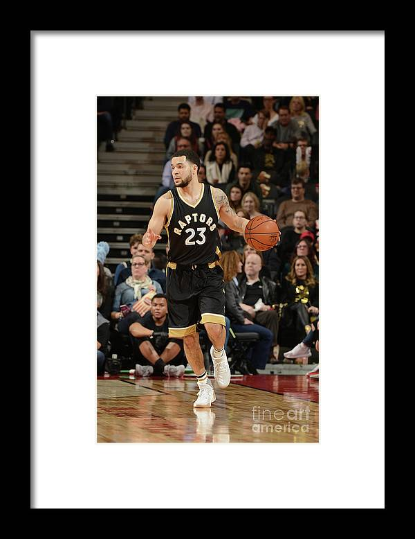Nba Pro Basketball Framed Print featuring the photograph Fred Vanvleet by Ron Turenne
