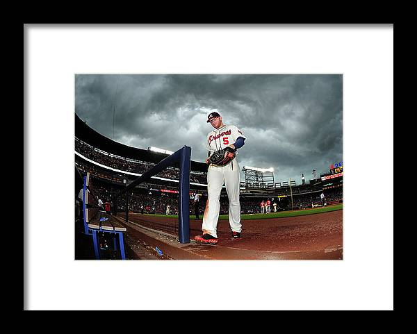 Atlanta Framed Print featuring the photograph Freddie Freeman by Scott Cunningham