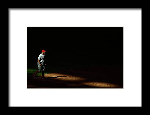 Ninth Inning Framed Print featuring the photograph Freddy Galvis by Christian Petersen