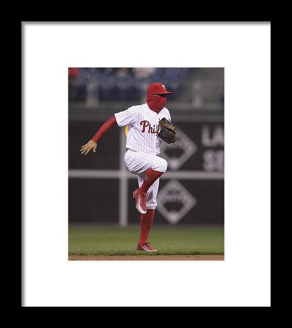 People Framed Print featuring the photograph Freddy Galvis by Mitchell Leff