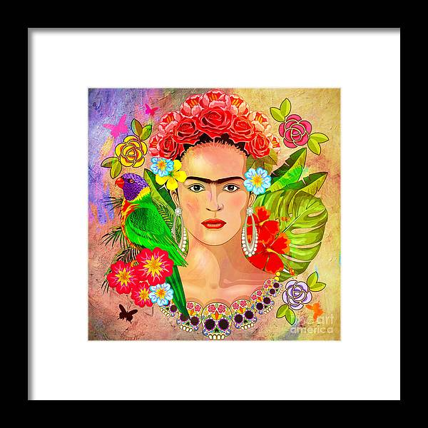 Friday Kahlua Framed Print featuring the digital art Frida Kahlo by Mark Ashkenazi