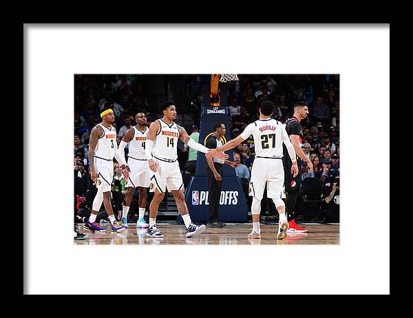 Playoffs Framed Print featuring the photograph Gary Harris and Jamal Murray by Bart Young