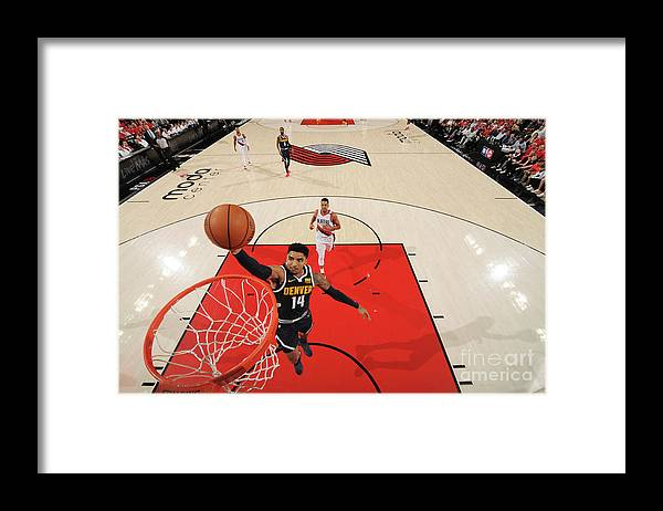 Nba Pro Basketball Framed Print featuring the photograph Gary Harris by Cameron Browne