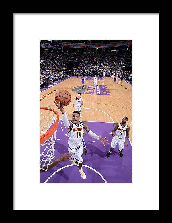 Nba Pro Basketball Framed Print featuring the photograph Gary Harris by Rocky Widner
