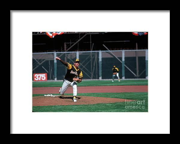 Baseball Pitcher Framed Print featuring the photograph Gaylord Perry by Michael Zagaris