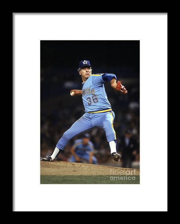 1980-1989 Framed Print featuring the photograph Gaylord Perry by Rich Pilling