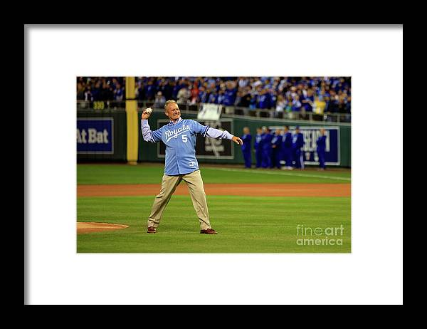 People Framed Print featuring the photograph George Brett by Jamie Squire