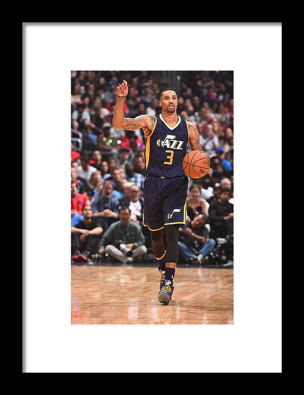 Nba Pro Basketball Framed Print featuring the photograph George Hill by Andrew D. Bernstein