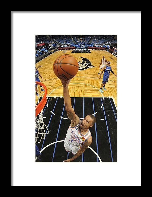 Nba Pro Basketball Framed Print featuring the photograph George Hill by Fernando Medina