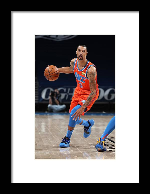 Nba Pro Basketball Framed Print featuring the photograph George Hill by Zach Beeker