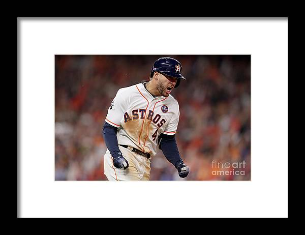 Three Quarter Length Framed Print featuring the photograph George Springer by Christian Petersen