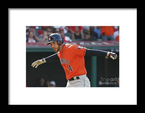 Three Quarter Length Framed Print featuring the photograph George Springer by Gregory Shamus