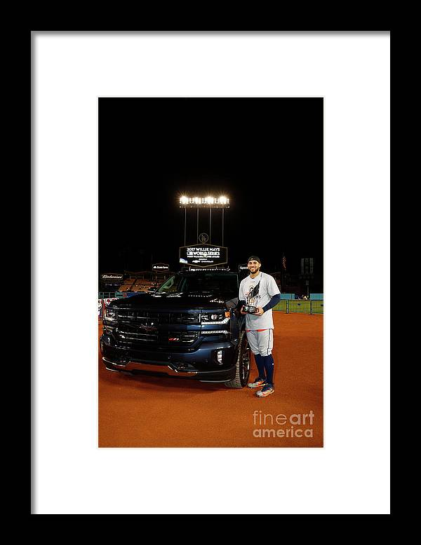 Playoffs Framed Print featuring the photograph George Springer by Rob Tringali