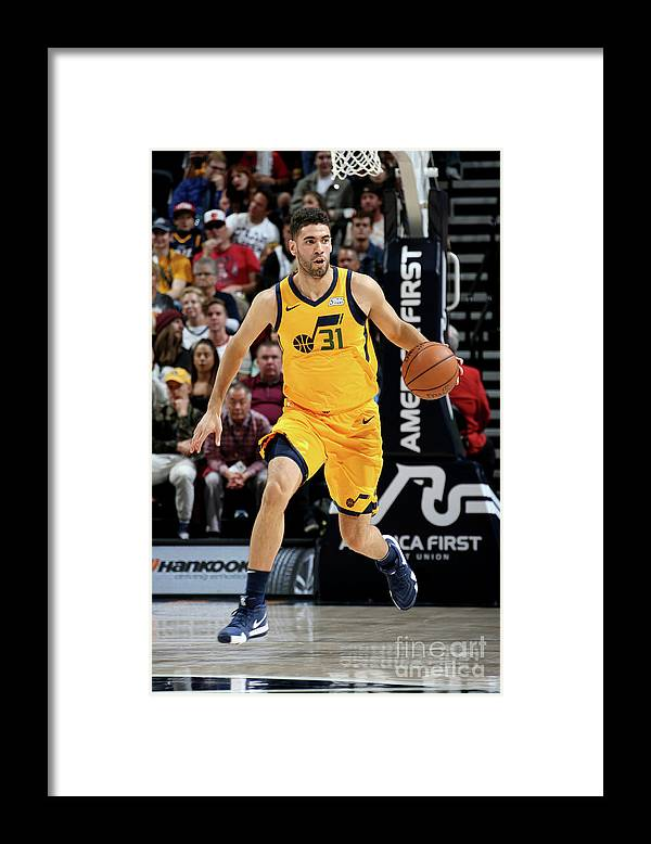 Nba Pro Basketball Framed Print featuring the photograph Georges Niang by Melissa Majchrzak