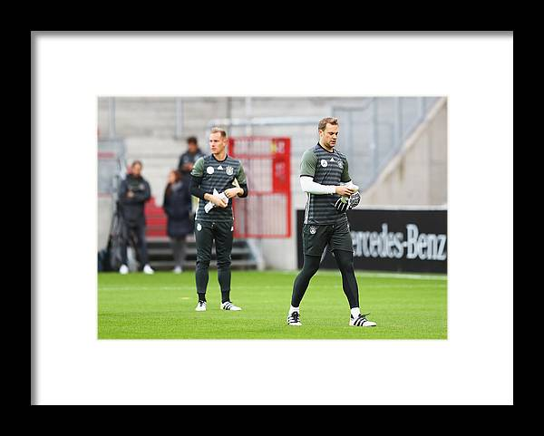 Event Framed Print featuring the photograph Germany - Training & Press Conference by Martin Rose