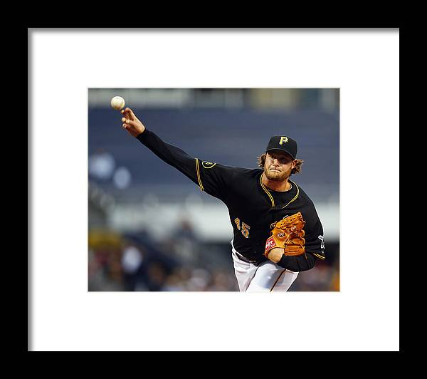American League Baseball Framed Print featuring the photograph Gerrit Cole by Matt Sullivan