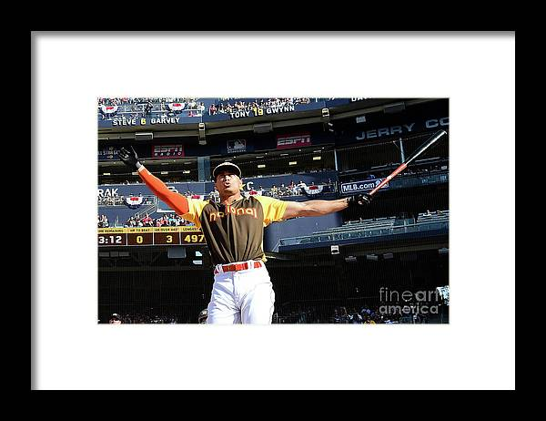 Three Quarter Length Framed Print featuring the photograph Giancarlo Stanton by Harry How