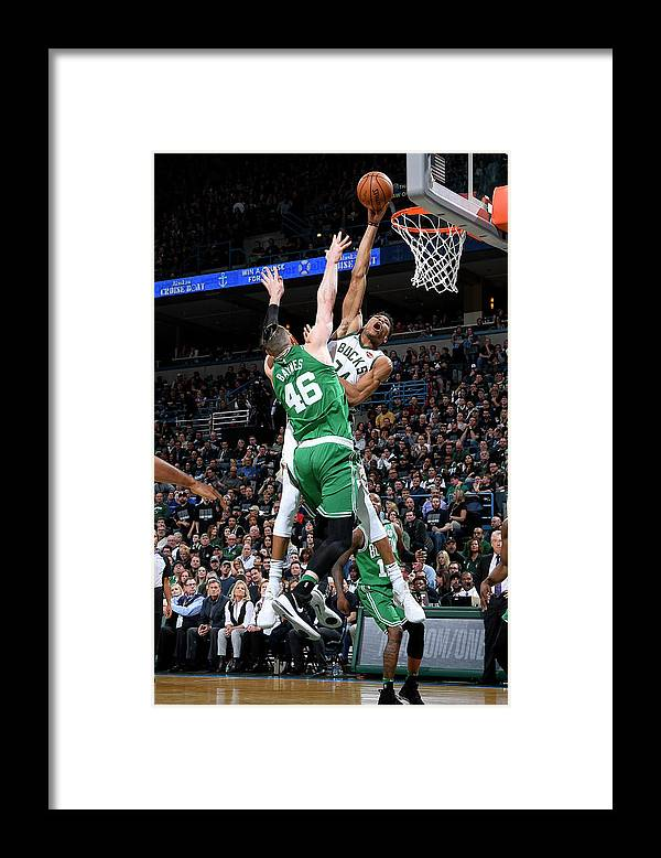 Playoffs Framed Print featuring the photograph Giannis Antetokounmpo by Brian Babineau