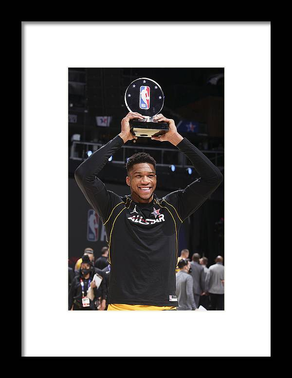 Atlanta Framed Print featuring the photograph Giannis Antetokounmpo, Kobe Bryant, and Lebron James by Nathaniel S. Butler
