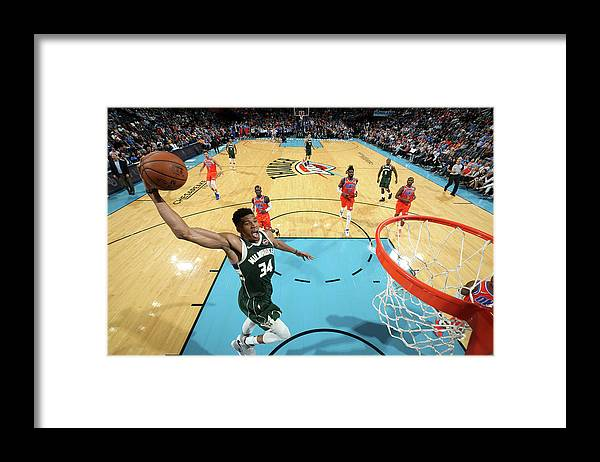 Nba Pro Basketball Framed Print featuring the photograph Giannis Antetokounmpo by Zach Beeker