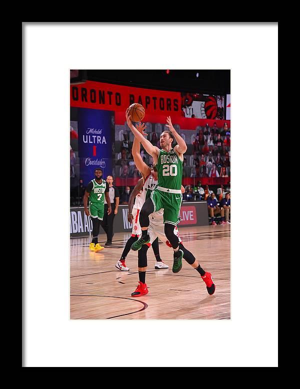 Nba Pro Basketball Framed Print featuring the photograph Gordon Hayward by Bill Baptist