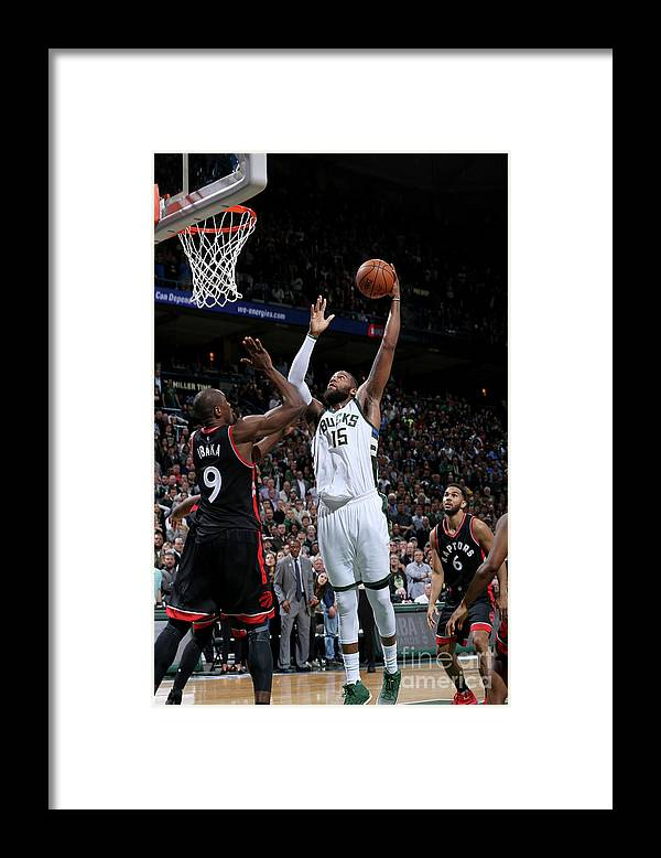 Playoffs Framed Print featuring the photograph Greg Monroe by Gary Dineen