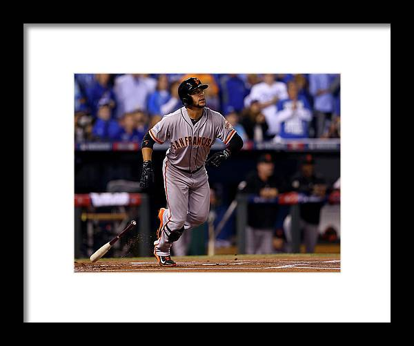 Game Two Framed Print featuring the photograph Gregor Blanco by Elsa