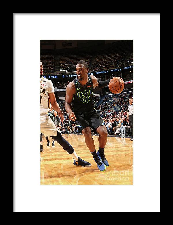 Smoothie King Center Framed Print featuring the photograph Harrison Barnes by Layne Murdoch