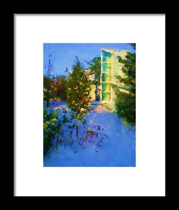 Hedensted Framed Print featuring the mixed media Hedensted by Asbjorn Lonvig