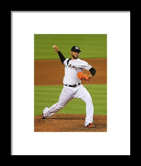American League Baseball Framed Print featuring the photograph Henderson Alvarez by Mike Ehrmann