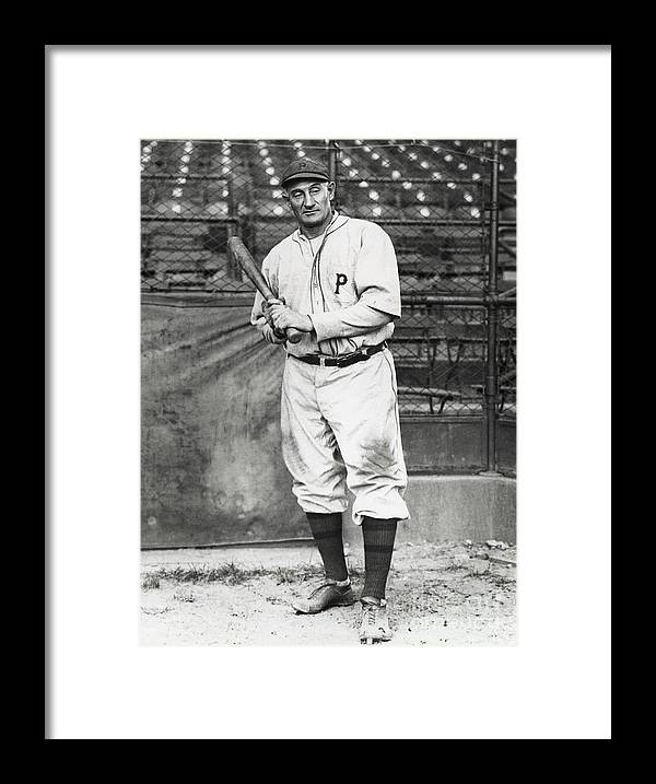 Season Framed Print featuring the photograph Honus Wagner by National Baseball Hall Of Fame Library