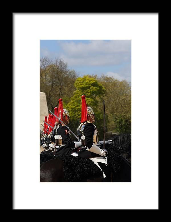 Horse Framed Print featuring the photograph Household Cavalry - change of guards by Pejft