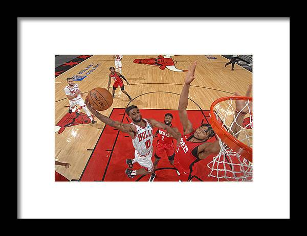 Coby White Framed Print featuring the photograph Houston Rockets v Chicago Bulls by Randy Belice