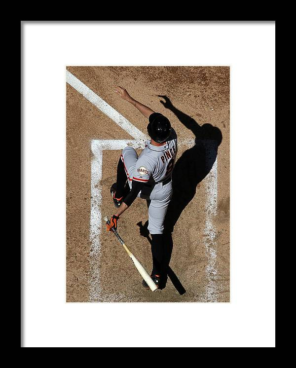 National League Baseball Framed Print featuring the photograph Hunter Pence by Christian Petersen