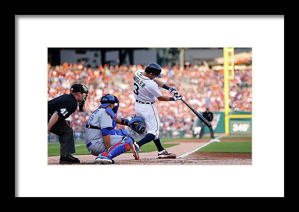 People Framed Print featuring the photograph Ian Kinsler by Leon Halip