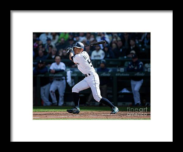 Following Framed Print featuring the photograph Ichiro Suzuki and Cap Anson by Lindsey Wasson
